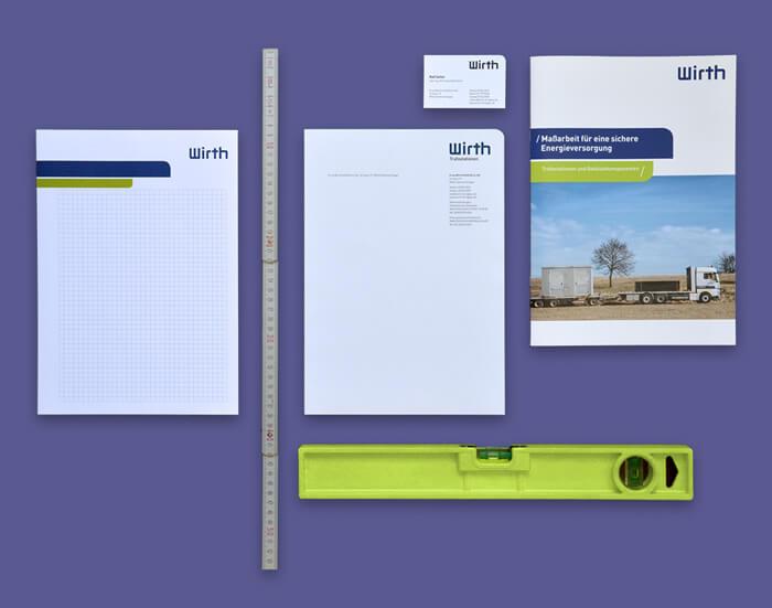 Branding Agentur entwickelt Corporate Design von Wirth.