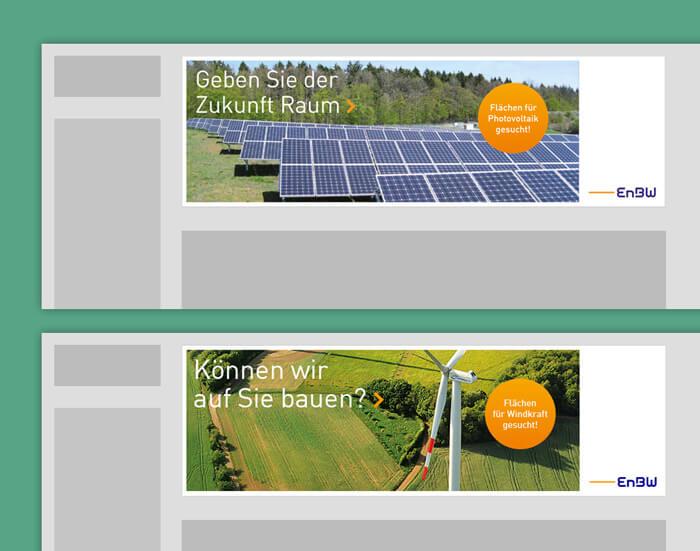 Online Marketing Agentur entwickelt Onlinebanner für EnBW.