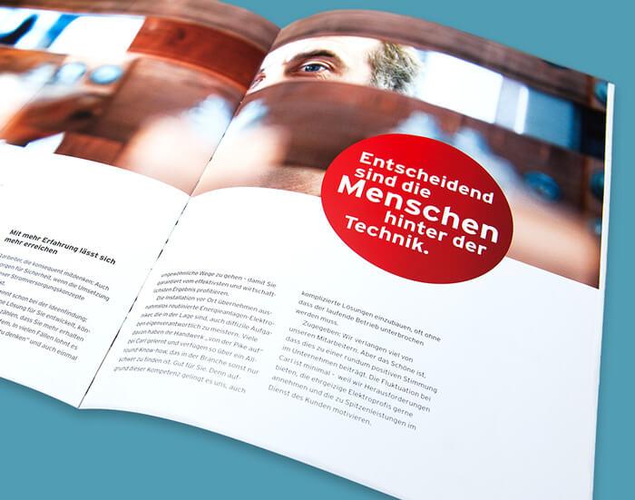 Print Agentur entwickelt Printmedien für Carl.