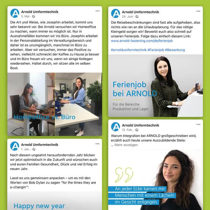 Social Media Agentur entwickelt Content-Strategien für Arnold.